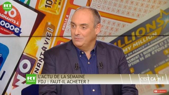 """Olivier Delamarche: FDJ: """"Ils arrivent à faire acheter aux français quelque chose qui leur appartient déjà ! Chapeau les artistes !!"""""""