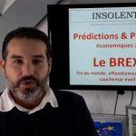 """Charles Sannat: """"BREXIT vers l'effondrement? Fin du monde, krach, cauchemar, faillite, crise 2020, collapsologie"""""""