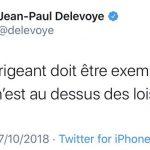 """Jean-Paul Delevoye: """"Tout dirigeant doit être exemplaire et nul n'est au dessus des lois"""""""