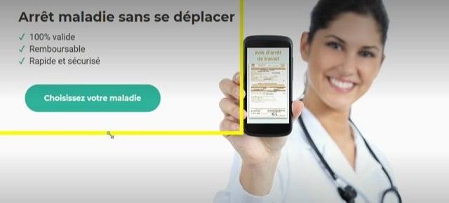 Un site propose de délivrer des arrêts maladie en quelques clics