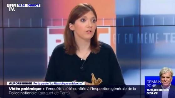 """Aurore Bergé: """"Dire que tout le pays est en tension, ce n"""