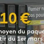 Depuis le 1er Mars, le paquet de cigarettes dépasse le seuil symbolique des 10 euros.