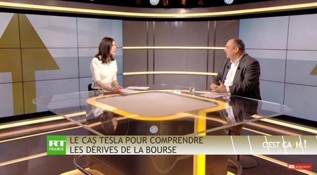 Le cas Tesla pour comprendre les dérives de la Bourse en général !... Avec Olivier Delamarche dans C