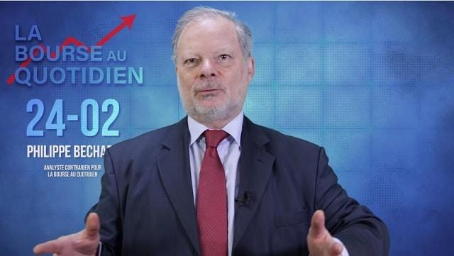 """Philippe Béchade – Séance du Lundi 24 Février 2020: """"La rencontre entre TINA2020 et COVID19 se passe très mal."""""""