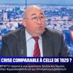"""Emmanuel Lechypre: """"On sait que cette crise sera courte, et que le système financier va très bien,… les banques vont très très bien ! La comparer à celle de 1929 n'est pas le sujet !!"""""""