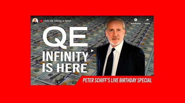 """Peter Schiff: """"L'hyperinflation est le scénario le plus probable - Ils vont déclencher un tsunami d'inflation ! Détenez de l"""
