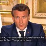 """Macron annonce la réouverture des crèches, écoles, collèges et lycées """"à partir du 11 mai 2020″… Voici Un des scénarios possibles !"""