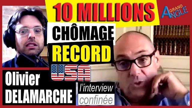 """Olivier Delamarche: """"Avec 10 millions de chômeurs aux USA en 15 jours, et une planche à billets qui tourne à vau-l"""
