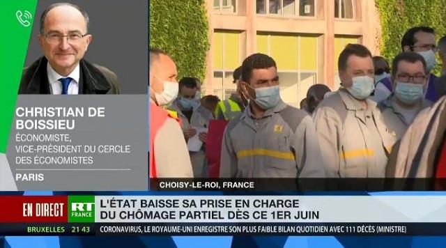 """Christian de Boissieu: """"Le chômage partiel va laisser la place au chômage tout cours"""""""