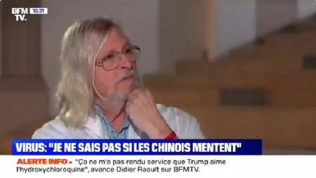 """Didier Raoult: """"Les mensonges absolument atroces qui ont été répercutés par nos autorités françaises, je ne sais pas si les Chinois mentent autant que ça ! Vous n"""