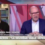 Sur LCI, Pascal Perri tacle les médecins libéraux qui ne travaillent pas le week-end provoquant la colère du docteur Jean Paul Hamon.