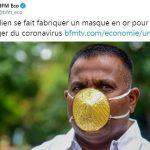 Un Indien se fait fabriquer un masque en or (3500€) pour se protéger du coronavirus