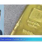 """Pourquoi il faut continuer d'acheter de l'or ! John Plassard: """"On peut sans aucun problème aller jusqu'à 2000$ voire jusqu'à 2200$…"""""""