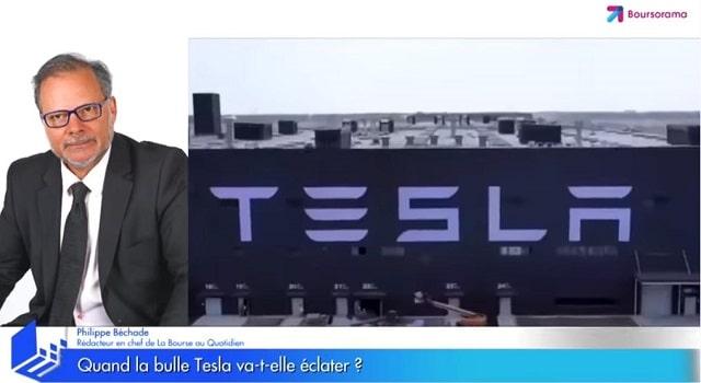 Quand la bulle Tesla va-t-elle éclater ?... Avec Philippe Béchade