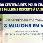 21 000 centenaires pour l'INSEE Mais 3 Millions inscrits à la Sécu !… La Fraude Sociale coûte cher aux Français !!