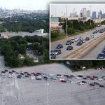 USA: Une file de plusieurs milliers de véhicules qui s'étirait sur des kilomètres devant une banque alimentaire du Texas