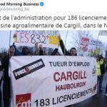 Feu vert de l'administration pour 186 licenciements dans l'usine agroalimentaire de Cargill, dans le Nord