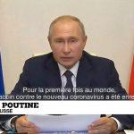 Vladimir Poutine présente le premier vaccin contre le Covid-19, «Spoutnik», testé sur sa fille !