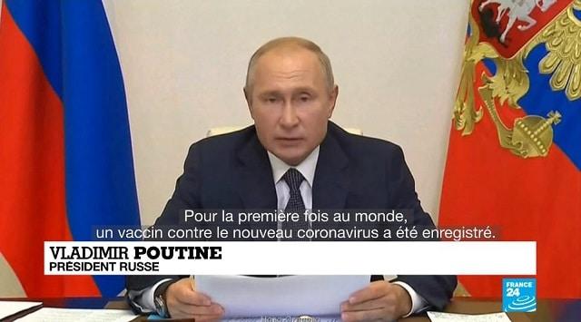 """Vladimir Poutine présente le premier vaccin contre le Covid-19, """"Spoutnik"""", testé sur sa fille !"""