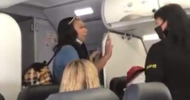 black-woman-inside-plane