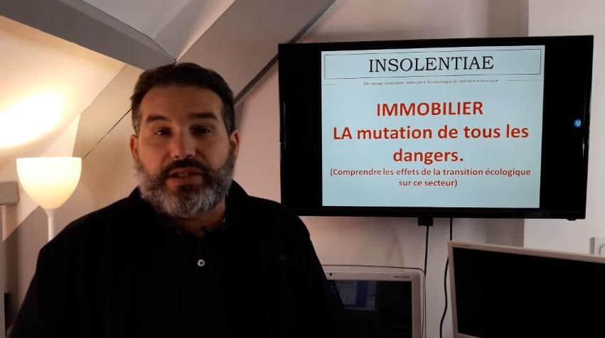 """Charles Sannat: """"Immobilier, le choc de la transition écologique et énergétique ! La Mutation de tous les Dangers !!"""""""