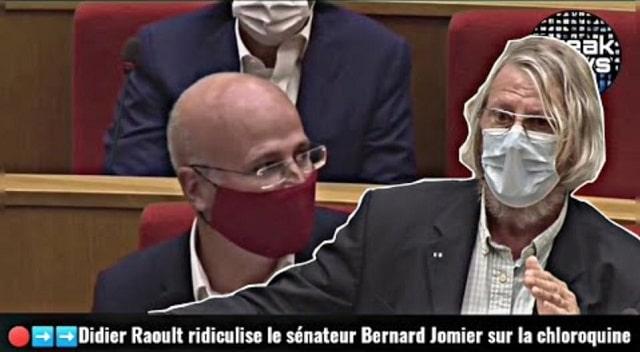 Didier Raoult ridiculise le sénateur Bernard Jomier en plein direct