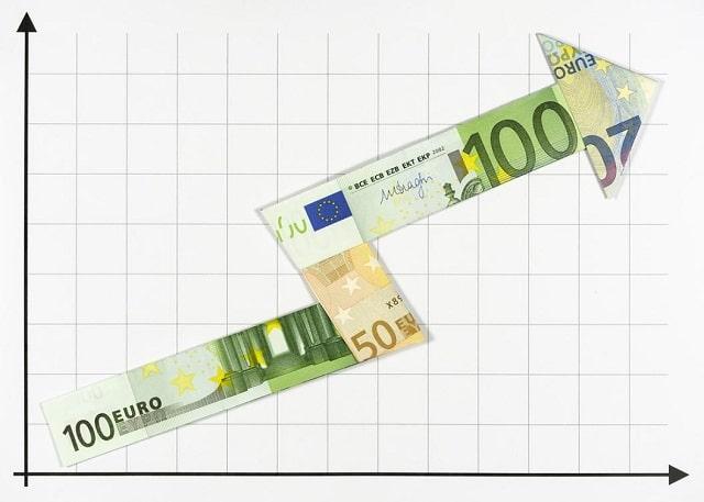 euro-argent-fleche-hausse