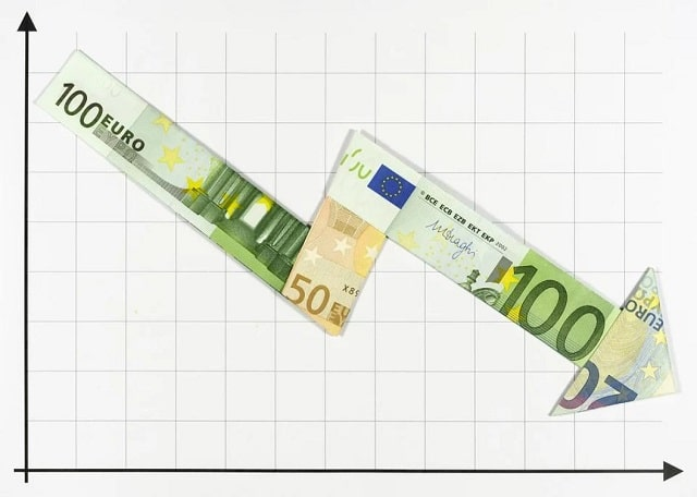 fleche-argent-euro-baisse
