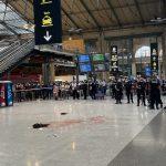 IMAGE CHOC: Un homme a égorgé un individu en pleine Gare du Nord à Paris