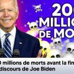 """Joe Biden: """"200 millions de personnes seront mortes probablement avant que je ne termine ce discours"""""""