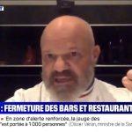 GROS coup de gueule de Philippe Etchebest contre les annonces de fermeture des bars et restaurants