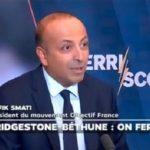 """Rafik Smati: """"Fermeture de l'usine Bridgestone à Béthune. Comme à chaque fois en pareilles circonstances, concert de démagogie dans la classe politique…"""""""