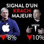 Investir en Bourse: Tesla perd 10% et Apple 8%, signal d'un krach majeur ?