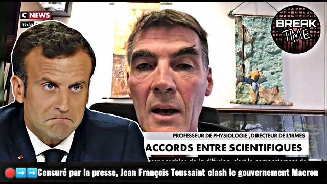 Censuré par la presse, le Professeur Jean-François Toussaint clash le gouvernement Macron